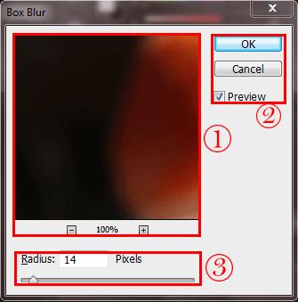 آموزش فیلتر box blur فتوشاپ