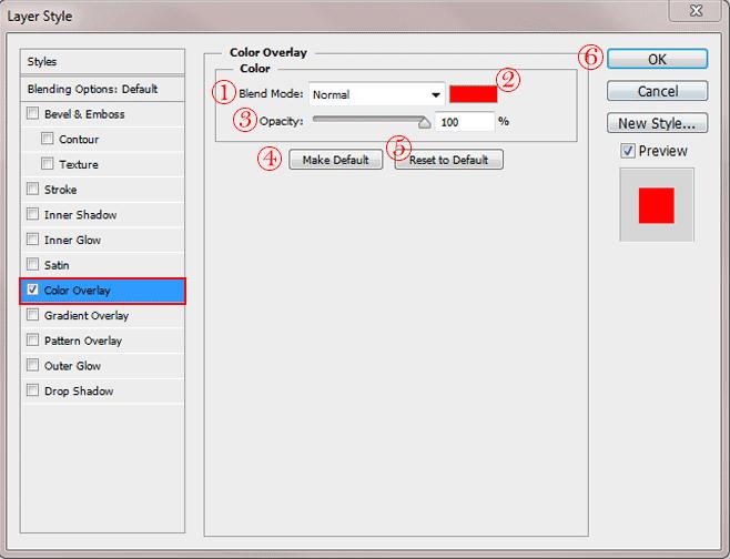 آموزش افزودن color overlay در فتوشاپ - گرافیشا