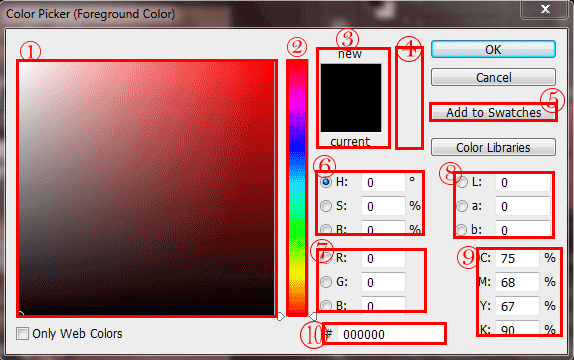 پنجره color picker فتوشاپ – color picker window