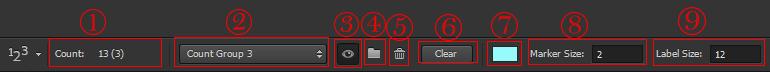 آموزش ابزار count tool در فتوشاپ
