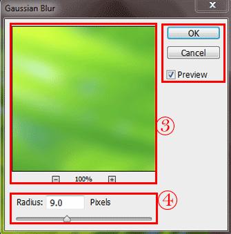 فیلتر gaussian blur فتوشاپ - gaussian blur filter