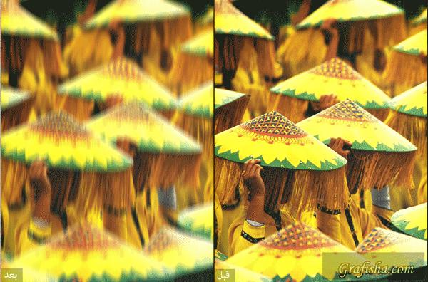 مثالی از فیلتر motion blur فتوشاپ