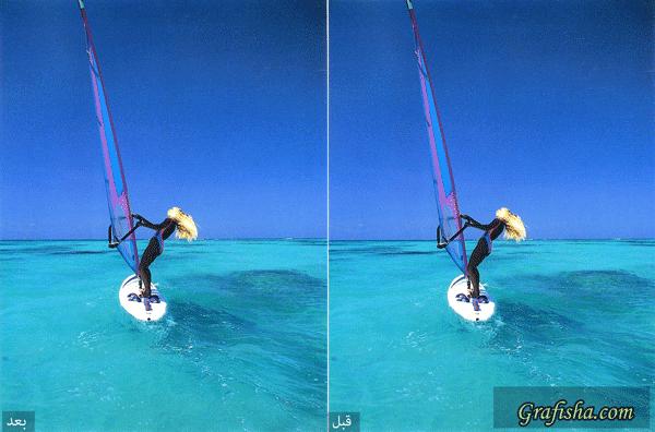 مثالی از فیلتر smart blur فتوشاپ